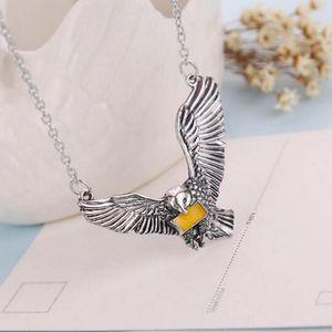 10 Stücke Beste Preis Vintage Harry Film Inspiriert Snowy Owl Messager Hedwig Anhänger Halskette für Potter Kopf