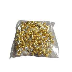 Comercio al por mayor 2000 Unids Oro Plata Pintado Pendiente Stud Back Stoppers Belleza Pendiente Clip Post Nuts Hallazgos DIY Bloqueado Stud Back Tapón