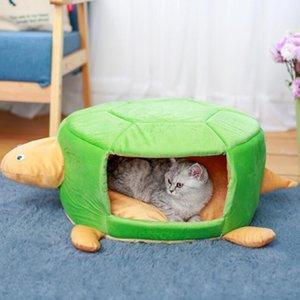 Forma de tortuga Pet Mat Cojín Esponja extraíble cubierta Mat Dog Cat Pad Suministros para mascotas Puppy Warm House para perro y gato