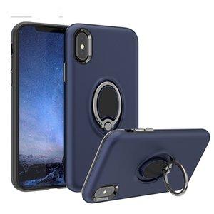 Casos de telefone 360 ° Anel Rotating Bracket Mobile Mobile para Samsung Galaxy A52 A72 A51 A71 Match Car em oppbags