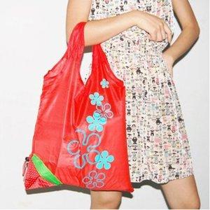TEXU Strawberry Складная корзина для сумок-сумок Многоразовая компактная экологическая сумка