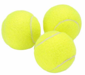Training standard tennis ball rubber good bounce 1.3 meters durable tennis playing official ball neon yellow sport ball