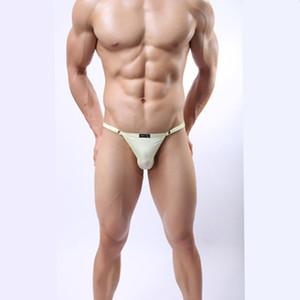 Çok satan! Marka Külot erkek Sexy Lingerie Seksi Katı Buz Ipek Iç Çamaşırı Erkekler Şeffaf Nefes erkek Eşcinsel G-string