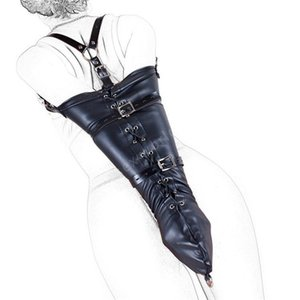 M L PU Leather Arm Binder Bondage Slave Fetish One Arm Cuff Glove, S&M BDSM Adult Bondage Kit Restraints Erotic Toys For Woman