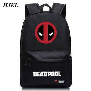HJKL Halloween Deadpool Deadpool Bolsas Bolsas escolares Mochilas bandolera bandolera Superhéroe Película Estudiante mochila