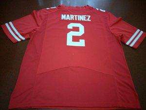Homens Nebraska Cornhuskers Adrian Martinez # 2 reais completa bordado College Jersey Tamanho S-4XL ou personalizado qualquer nome ou número jersey