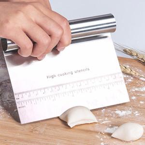 Delidge Acciaio inossidabile Pizza Dough Raschietto Cutter Baking Pastry Spatole Fondant Cake Decoration Tools Accessori da cucina