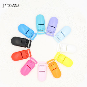 20Pcs 15MM KAM  Plastic Clips Transparent Pacifier Clips Soother Holder for Baby Pacifier 11 Colors to Choose