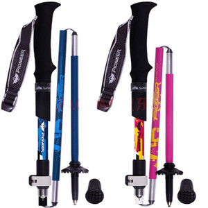 1 pair Collapsible Adjustable Hiking s Aluminum and Carbon Fiber Best Folding Collapsible Nordic Walking Sticks