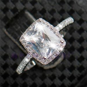 Bestselling 3ct Gerçek 925 Gümüş Yüzük SWA Eleman Kadınlar Için İmitasyon Pırlanta Yüzük Hediye Toptan Düğün Nişan Moda Takı