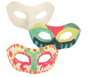 Zorro Maske Weiß Handbemalte Masken Halbe Gesichtsmaske Halloween Blankopapier DIY Hip-Hop Maske Straßentanz Weihnachtsgeschenke