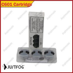 100% Original Justfog C601 Pod 1.7 ml Substituição Cartucho Atomizador Tanque Com 1.6ohm Bobina Para Portátil C601 Starter Kits