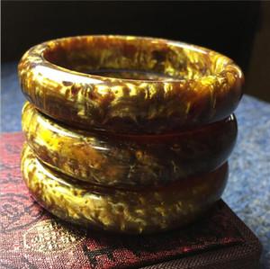 Alto grado exquisito nuevo oro seda seda sauce mar sauce sauce ámbar cera de abejas antiguo cera de abeja pulsera al por mayor
