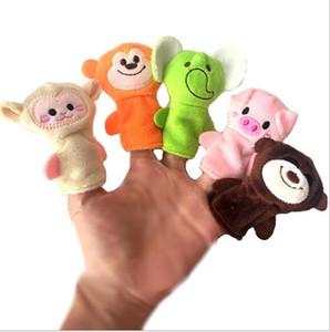 Finger bambole dita nuovi giocattoli per bambini regali animali dita bambole merci del punto 10 degli animali di modellazione bambole ripiene