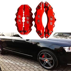 도매 4 배 Audi 차를위한 캘리퍼스 덮개 장비를 주문을 받아서 만드십시오 Q3 A3 A4 크기 Q5 A5 A6L A6 제동 스타일 Quattro S3 S4 S5 S6 S7 장식 4pcs / lot