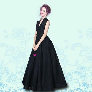 2020 Romance col montant Noir robes de soirée dentelle perlée Sash Corset robes de soirée Robe longue South Prom africaine Celebrity Robes pas cher