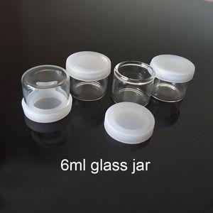 دي إتش إل الحرة الشحن 6ML غير عصا زجاجية تركز حاوية الزجاج زجاجة الشمع جرة Dab سميكة حاوية النفط مقابل 5ML جرة الزجاج