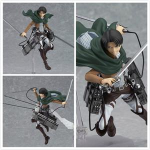 Ataque Anime Anime Em Titan Eren Mikasa Ackerman Levi / Rivaille Figma Pvc Figura de Ação Modelo Toy