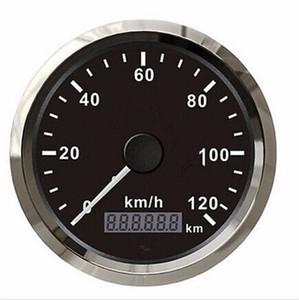 브랜드 뉴 0-120km / h GPS 속도계 튜닝 85mm 방수 포인터 속도계 12v / 24 자동차 트럭 보트 오토바이에 대 한