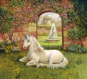 Contemporary Giclee Print Home for Living Room art wall Animal Horse unicorn Oil painting Picture Printed on canvas Home Bedroom Decor gift