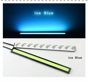 Nuovo aggiornamento DC 12 V 17 cm 100% impermeabile ultra luminoso COB LED luci di marcia diurne Auto auto DRL luce della barra di guida Fendinebbia