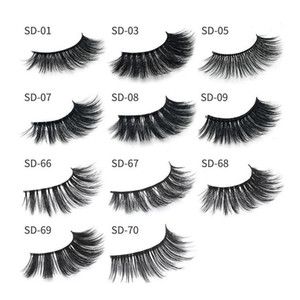 Milk Eyelashes 11 styles Selling 1pair lot 100% Real Siberian 3D Strip False Eyelash Long Individual Eyelashes Mink Lashes Extension
