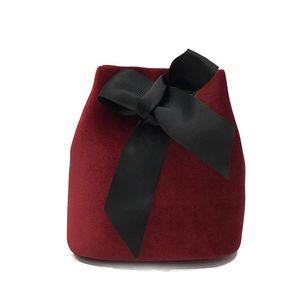 여성 많은 색상의 패션 벨벳 여성 가방 사랑스러운 활 인기있는 단일 어깨 버킷 가방 15cx ZZ 선택