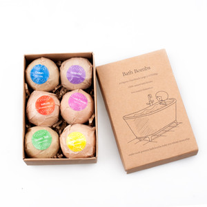 Bath Salt Ball Set Essential Oil Bath Bomb Skin Care Cleaner SPA Body Massage Beauty Whitening Fragrant Christmas Gift