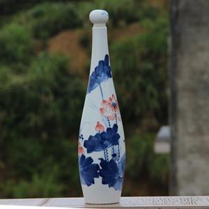 Jingdezhen dipinto a mano vaso vaso vaso di porcellana in ceramica antico modello di loto