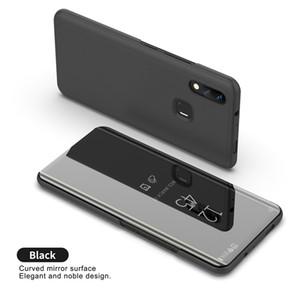 Luxury Mirror Clear Case Case per Vivo NEX V7 V7 Plus V9 Y85 Cover per telefono placcatura Base Stand verticale
