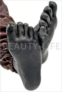 Hot Sexy Product New Male Female 100% Natural Latex Five Toes Calcetines Pies de la envoltura Bondage Adulto BDSM Fetish Sex Bed Juegos de Juguete 4 Color