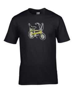 CULTURAL ICON- T-Shirt da uomo Wheelie Push Bike Reto