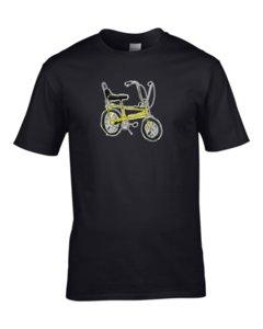 Культурная икона-Wheelie прохладный Push Bike Reto мужская футболка
