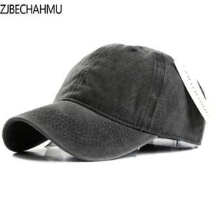 ZJBECHAHMU Chapéus Primavera Algodão Sólidos Bonés de Beisebol Ajustáveis Snapback Chapéu Para Homens Mulheres Hip Hop Caps Para Acessórios de Vestuário
