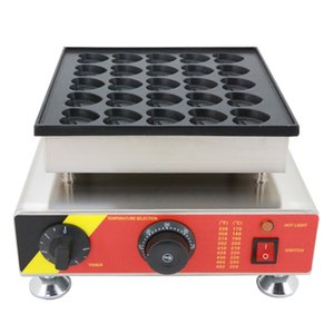 Commercial Use 110v 220v electric heart shaped poffertjes maker dutch pancake grill iron mini crepe machine pan mould