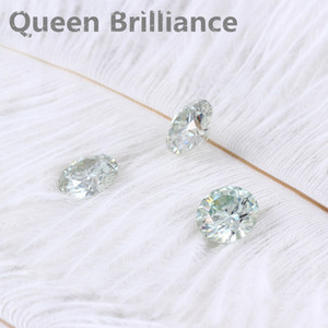 Corte brillante redondo Moissanite 1 Carat 6.5mm Ligero Azul Prueba Positiva Lab Grown Diamond Piedras preciosas sueltas Excelente corte VVS1