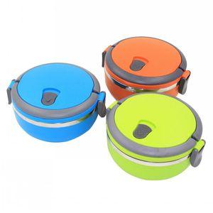 New Edelstahl Lunch Box mit Griff Thermos für Lebensmittelbehälter Isolierung Student Bento Box Geschirr Rabatt Verkauf