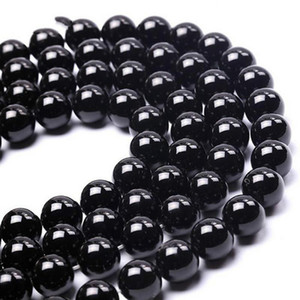 8mm Qualitäts-Grad-Naturstein-Schwarz Agates Korn-runder loses Korn Onyx DIY Schmucksachen, die Armband 4 6 8 10 12 14 mm