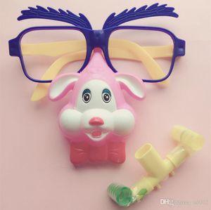 Exquisite Funny Toy Cute Cartoon Animal Shape Puntelli di Halloween vestiti con gli occhiali Blow Out Dragon Toys Easy Carry 1 05ys cc