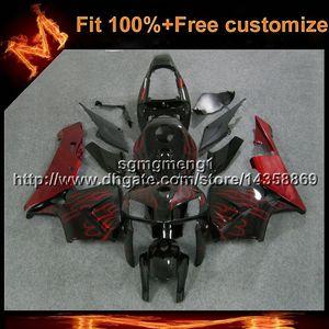 23 farben + 8 geschenke spritzguss rot flammen motorradrumpf für honda viele lackierung cbr600rr 2005-2006 cbr 600 rr 05 06 abs verkleidung