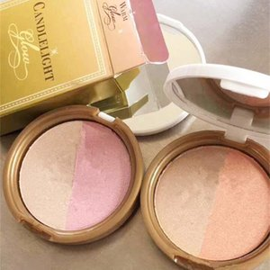 ¡Nuevo en stock !! maquillaje Faced Candlelight Glow Highlighting Powder Warm Glow Rosy Glow 10 g 2 colores paleta DHL envío