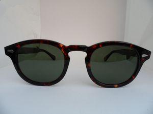 Süper kaliteli yıldız tarzı HD polarize güneş gözlüğü L M S Johnny Depp saf tahta gözlüğü tam set vaka OEM çıkış fiyatı 3sizes İtalya-ithal