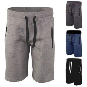 2020 Nuevo tamaño para hombre llano Fleece Joggers hombres de los cortocircuitos del verano floja ocasional pantalón corto deportivo pantalón corto Male Plus 3XL Homme