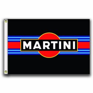 [Хороший флаг]Martini Racing Flags 3x5ft 150X90CM 100% полиэстер, холщовая головка с металлической втулкой,Использованный внутри помещения или Outdoors