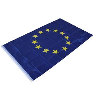 90 x 150 cm - Drapeau de l'Union européenne - Grand pavillon de l'Union européenne, drapeaux en polyester suspendu au drapeau européen