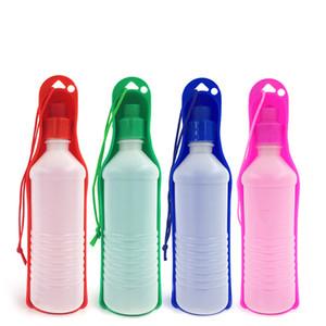 500 ملليلتر كلب القط تغذية المياه شرب زجاجة موزع السفر المحمولة طوي البلاستيك تغذية السلطانية السفر زجاجة المياه pet