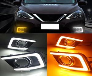 1 Pair Nissan Sylphy Sentra 2016 2017 DRL Gündüz Farları sis lambası kapağı far 12 V Günışığı