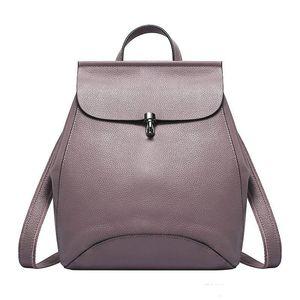 Высокое качество натуральная кожа женские рюкзаки Анти-Вор дорожные сумки женский черный Dailypack школа дамы опрятный девушка рюкзак