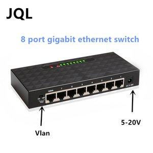 8 port Gigabit 10/100/1000 M hızlı ethernet anahtarı Vlan anahtarı