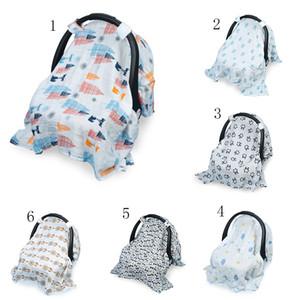 INS уход за ребенком зонт крышка печати одеяло коляска крышка младенческой перевозчик солнцезащитная крышка 130 * 110 см 12 цветов C4186